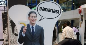 David Milliband is..... Bananaman